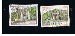 ITALIA REPUBBLICA  - SASS. 1610.1611  -      1982  VILLE D' ITALIA: D' ESTE, BORGHESE        -      USATO - 6. 1946-.. Republic