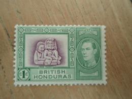 Timbre British Honduras Maya Figures. 1938 Neuf. - British Honduras (...-1970)