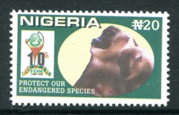 Nigeria 1999 Tenth Anniversary Of Federal Environmental Protection Agency - 20n Monkeys MNH (SG 744) - Nigeria (1961-...)