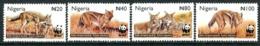 Nigeria 2003 Endangered Species - Side-striped Jackal Set MNH (SG 809-812) - Nigeria (1961-...)