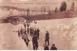39. N° 103452 .monts Jura .tranchee De Neige Sur Le Tram .en L Etat . - Autres Communes