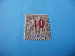 TIMBRE  GABON     N  74      COTE 1,30  EUROS    NEUF  TRACE  CHARNIÈRE - Gabon (1886-1936)