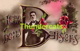 CPA AMOUR LOVE VALENTIN VALENTINE 100 BONS BAISERS - Saint-Valentin