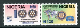Nigeria 2005 Centenary Of Rotary International Set MNH (SG 820-821) - Nigeria (1961-...)