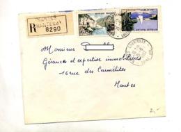 Lettre Recommandéee Nantes Sur Arcachon Sioule - Cachets Manuels