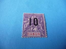 TIMBRE  GABON     N  77      COTE 1,40  EUROS    NEUF  TRACE  CHARNIÈRE - Gabon (1886-1936)