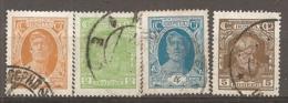 RUSSIE -  Yv N° 392 à 395    (o)  1,2,4,5k  Série Courante   Cote  1,2  Euro BE - 1923-1991 UdSSR