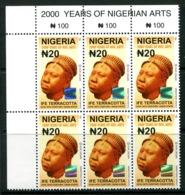 Nigeria 2010-12 20n Ife Terracotta - Type II - Block Of 6 MNH (SG 888) - Nigeria (1961-...)