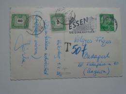 D169123 Nordrhein Westfalen Wintersportplatz Winterberg - PORTO  Postage Due - Hungary - ESSEN Einkaufsstadt 1958 - Allemagne