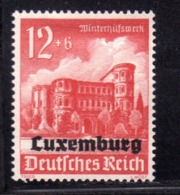 GERMAN OCCUPATION OF LUXEMBURG LUXEMBOURG LUSSEMBURGO OCCUPAZIONE TEDESCA 1941 Pf 12 + 6pf MLH - 1940-1944 Duitse Bezetting