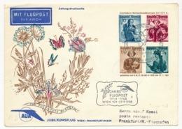 """AUTRICHE - Enveloppe Pro Juventute 1951 Avec Repiquage Et Cachets """"40e Jahre Flugpost WIEN 101"""" 1958 - Enteros Postales"""