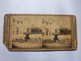 """Fotografia Stereoscopica """"N.° 83 PIAZZA BARBERINO ROMA"""" Joseph Spithover 1865 Circa - Stereoscopio"""