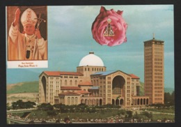 BRESIL - Vista Da Basilica Nacional De Aparecida ( 1980 ) Visite Du Pape Jean PAUL II ( Religion, Christianisme ) - Brasile