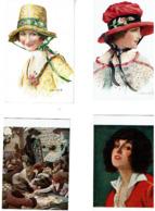 """LOT De 9 CP Editees Par """"Chocolat Cardon A Cambrai)-Femmes -Paysages..Lapina- Quelques Scans - Ansichtskarten"""