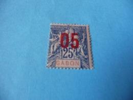TIMBRE  GABON     N  70      COTE 1,50  EUROS    NEUF  TRACE  CHARNIÈRE - Gabon (1886-1936)