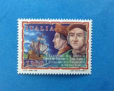 1998 ITALIA FRANCOBOLLO NUOVO STAMP NEW MNH** COLOMBO VESPUCCI - 1991-00:  Nuovi