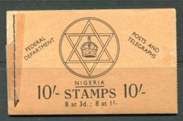 Nigeria 1957 QEII Pictorials - 10/- Buff Cover Booklet - Nigeria (1961-...)