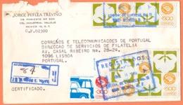 Mexique 1988  Lettre To Portugal   1981 -1987 Mexico Exports500Pet  300P Cote € 5.25 - Mexique