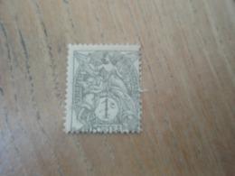 Timbre  Type Blanc 1 Centime Légère Oblitération Découpe Décalée. - 1900-29 Blanc