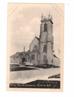 VICTORIA, British Columbia, Canada, Exterior Of Christ Church Cathedral, Old WB Heliotype Postcard, Rev. Trickett - Victoria