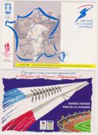 Lot 2 Cartes Albertville 1992 Atlanta 1996  - CPM 10,5x15 TBE Neuves Marque Philatélique Parcours Flamme Albi - Olympic Games