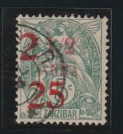 Zanzibar N° 63 Premier  Choix Belle Oblitération - Zanzibar (1894-1904)