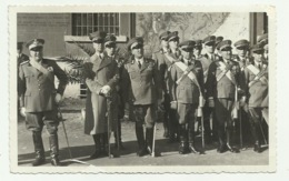 FOTO MILITARI ITALIANI CON GENERALE 1938  FOTO OTTICA  LIVORNO FP - Otros