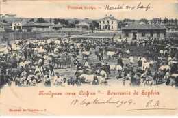 Bulgarie - N°61346 - Souvenir De SOPHIA - Marché Aux Boeufs - Carte Pliée  Vendue En L'état - Bulgaria