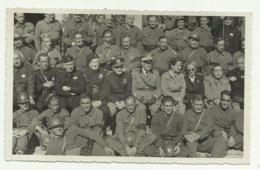 FOTO MILITARI ITALIANI CON GENERALE 1938  FOTO MASSIAH LIVORNO FP - Militaria