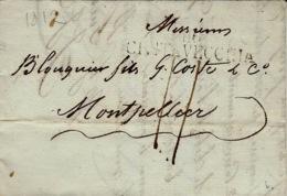 1812- TERR. CONQUIS -  Lettre De 116 / CIVITAVECCHIA -taxe 11 D. Pour Montpellier - Poststempel (Briefe)