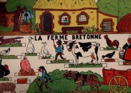 GRAND CHROMOS A MONTER E.D.A. LA FERME BRETONNE - Chromos