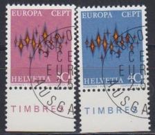 Europa Cept 1972 Switzerland 2v Used (45151E) - Europa-CEPT