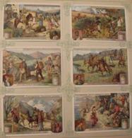6 Chromo Liebig : Montagnards. 1911. S 1023 - Liebig