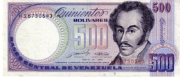 Venezuela P.67 500 Bolivares 1990  Au+ - Venezuela