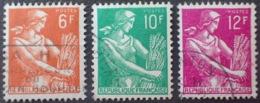 R1591/630 - 1957 - TYPE MOISSONNEUSE - SERIE COMPLETE - N°1115 à 1116 ☉ - Oblitérés