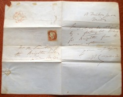 United Kingdom Grande-Bretagne England 1851: ONE PENNY Red (#3) With Precancel-pm (?) London =57= GEV6 NO.3 1851 II - 1840-1901 (Victoria)