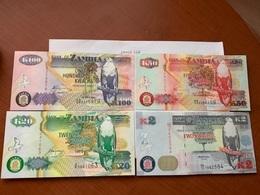 Zambia 5+50+100 Kwacha Banknotes 2008 - Zambia