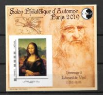 2019- **MNH - Salon Philatélique D'Automne Léonard De Vinci - Mona Lisa - CNEP