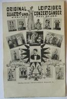 Sachsen, Conzertsänger Paul Belzer, Leipzig, Karte Perfins PB 1908 (7602) - Unterhaltung