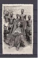 AFRIQUE PHOTO 8.5CM*13.5CM ETHONOGRAPHIE  CHEF EN COSTUME - Non Classés