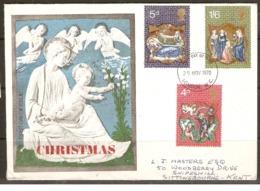 Great Britain   1970  Christmas     London E.C. Postmark - 1952-1971 Em. Prédécimales