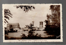 CP29101 - Challans - L'Église Et La Tour Du Clocher - Ecrite - Challans
