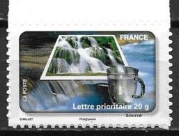 France 2010 Timbre Adhésif Neuf N°406A Eau De Source à La Faciale - KlebeBriefmarken