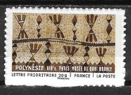 France 2011 Timbre Adhésif Neuf N°514A Tissu Polynésien à La Faciale - KlebeBriefmarken