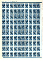 Lettonie Occupation Allemande YT N° 5 En Feuille Entière De 100 Timbres Neufs ** MNH. TB. A Saisir! - Besetzungen 1938-45