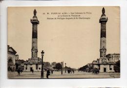CP29346 - Paris - Les Colonnes Du Trône Et Le Cours De Vincennes – Statues De Philippe-Auguste Et Charlemagne - Voyagée - Autres Monuments, édifices