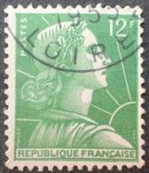 R1591/636 - 1955 - TYPE MARIANNE DE MULLER - N°1010 ☉ - Oblitérés