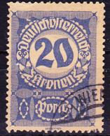Österreich Austria Autriche - Portomarken/taxe (MiNr: 92 Y) 1921 - Gest Used Obl - Strafport