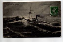 CP32127 -  - Souvenir De Voyage – OXUS Par Grosse Mer - Voyagée - Paquebots
