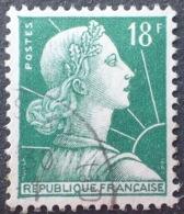 R1591/638 - 1955 - TYPE MARIANNE DE MULLER - N°1011A (II) ☉ - Oblitérés